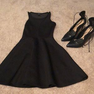 Black short dress